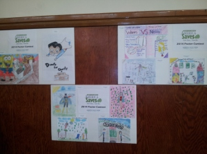 Students were instructed to draw a photo about being a super saver.