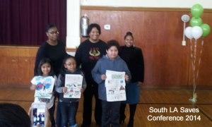 The winners of the poster contest at the Start Small Think Big Conference from South LA Saves.