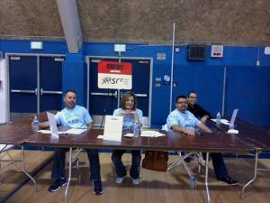 The crew from SCE Credit Union getting ready for action at the Mad City Money reality fair.