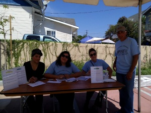 Volunteers from SCE Credit Union.
