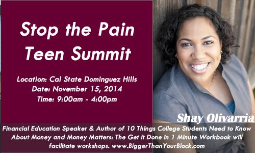 Stop-the-Pain-Teen-Summit-CSU-Dominguez-Hills-Shay-Olivarria