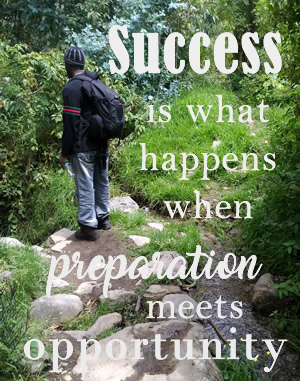 blog success is when preparation meets opportunity